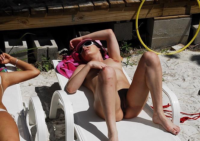 Naked Sunbathing At Florida Woman Images Of