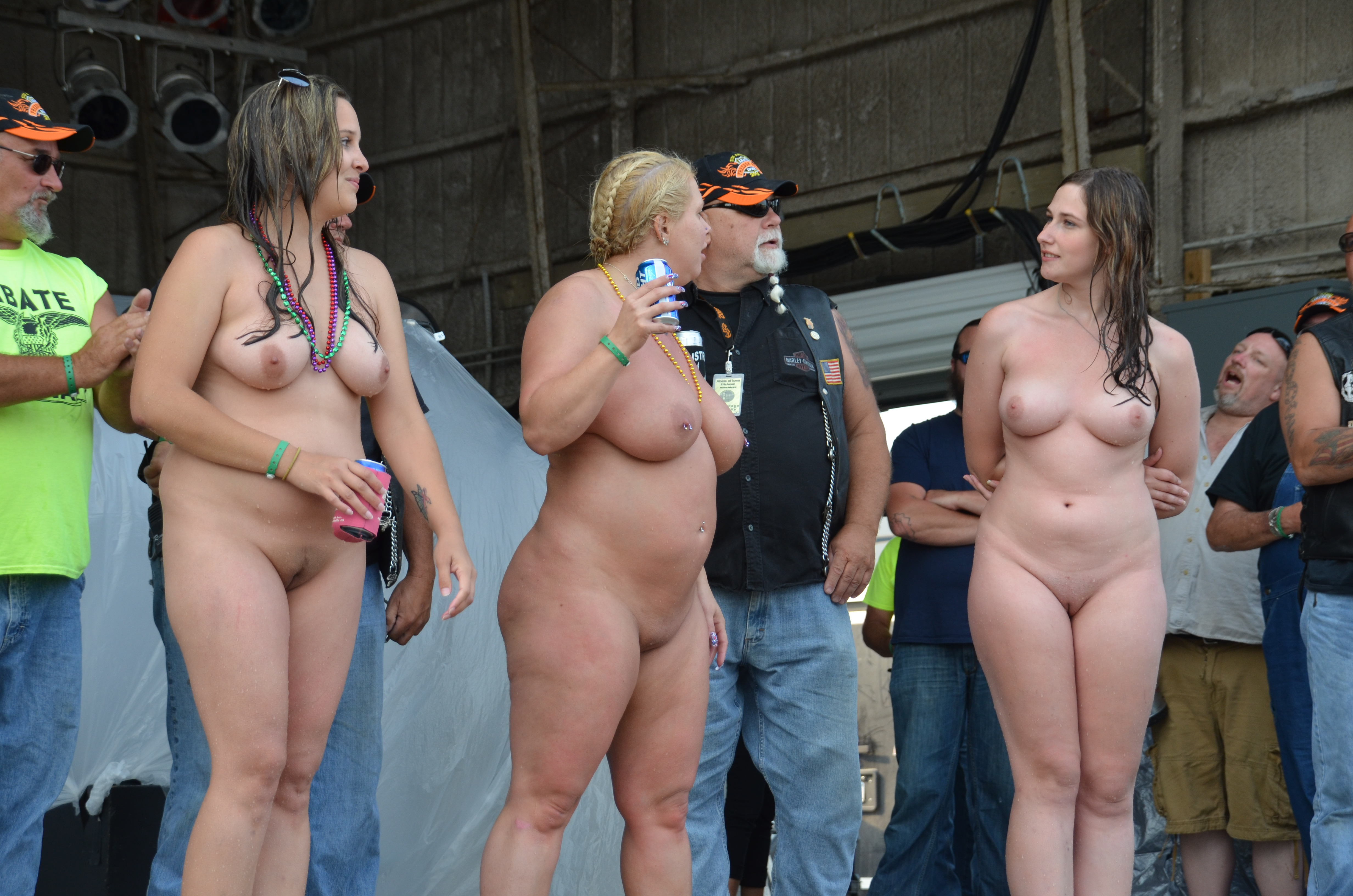 nude biker contest