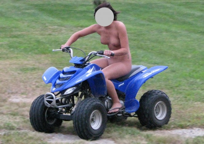 Naked bitches fucking on atvs